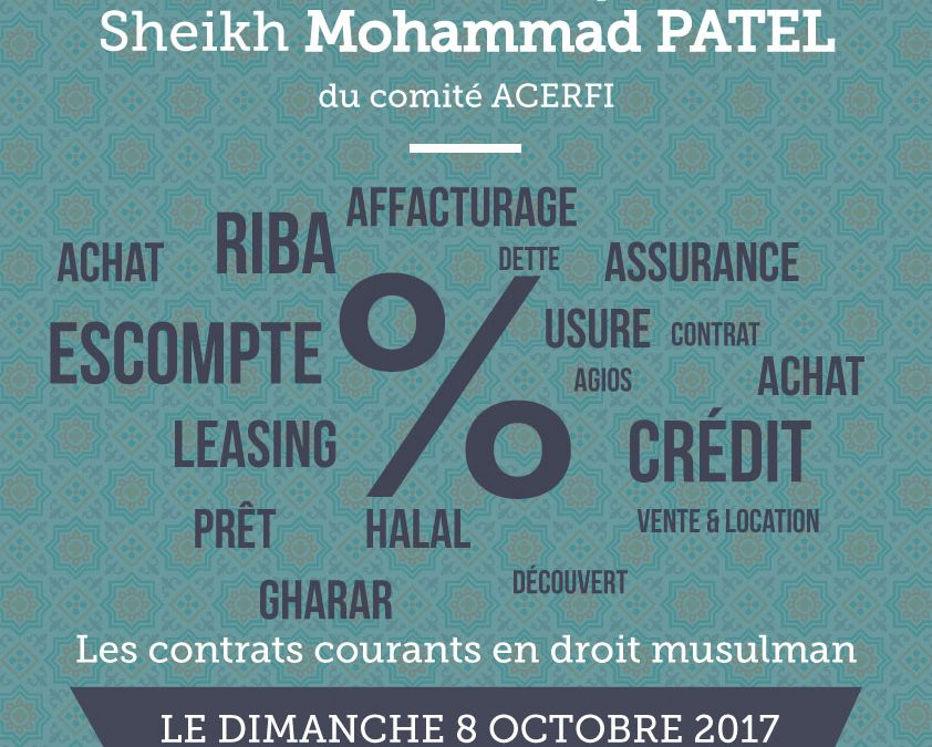 Conférence Finance Islamique par le Cheikh Patel