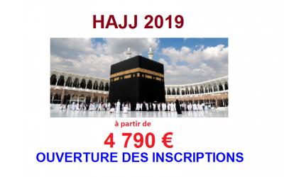HAJJ 2019 : Lancement inscriptions
