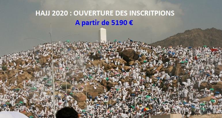 HAJJ 2020-1441 : OUVERTURE DES INSCRIPTIONS