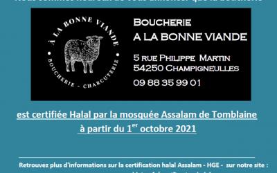 Nouvelle certification boucherie